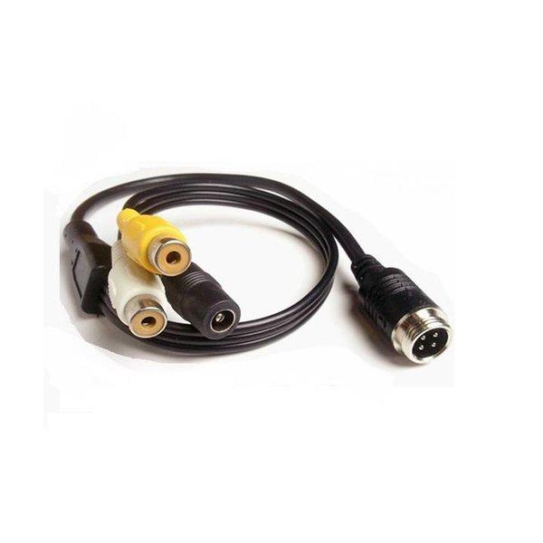 RVS-systemen Verloopkabel 4 pins naar RCA tulp RMF-012