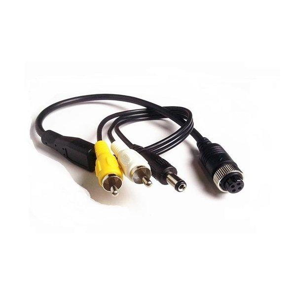 RVS-systemen Verloopkabel 4 pins naar RCA tulp RFM-021