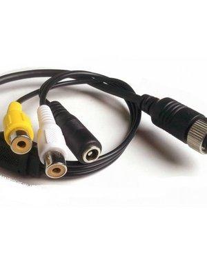 Verloopkabel 4 pins RCA RFF-022