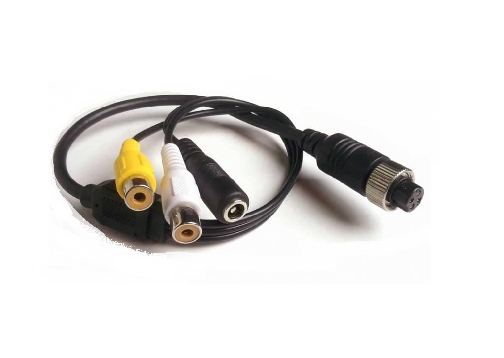 Verloopkabel 4 pins naar RCA tulp RFF-01