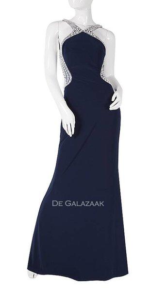 Navy blauwe galajurk   2475