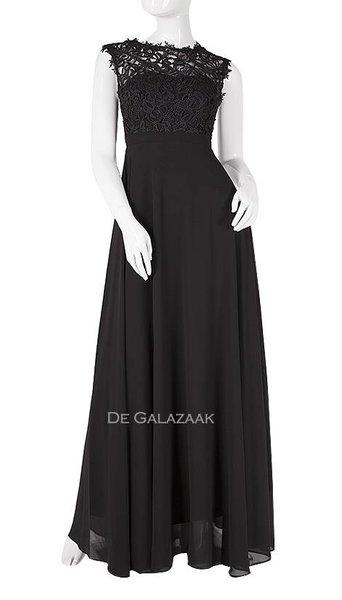 Zwarte lange jurk   3950