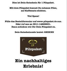 Pilzpaket Pilzpaket Gutschein für Pilzbrut kaufen