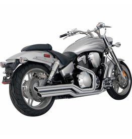 VANCE & HINES BIG SHOTS STAGGERED CHROME HONDA VTX 1800 F BOUWJAAR 05 T/M 08