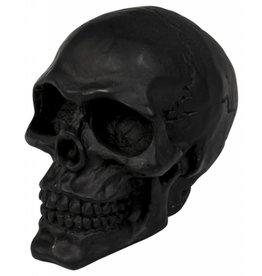 Cracked skull ornament, black