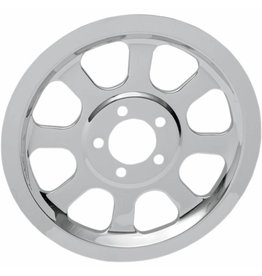 DRAG REAR BELT PULLEY COVER CHROME