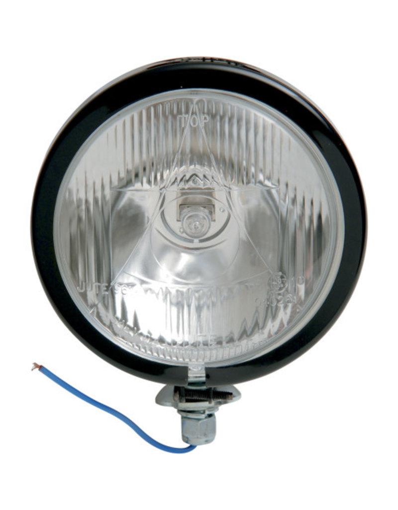 "Spotlights 4 1/2 ""USA-style"" (1 Pc) with E-Mark H3 12V55W - black"