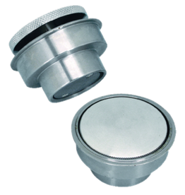 ZODIAC Natural aluminum cap with weld-in steel bung