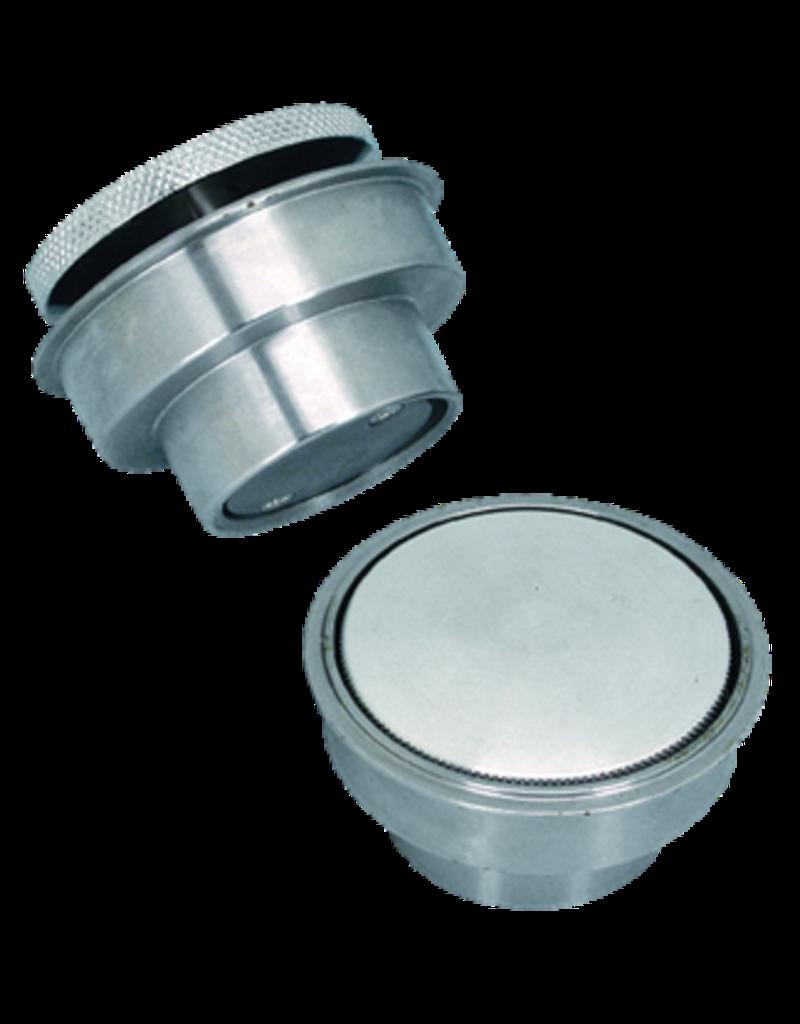 ZODIAC Natural aluminum cap with weld-in steel bung