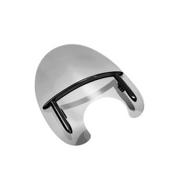 Windscherm - De Luxe ''Telescoop vork'' 39-42 mm glans zwart