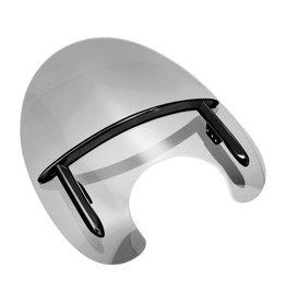 Windscherm - De Luxe ''Telescoop vork'' 55-58 mm glans zwart