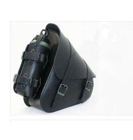 Swingarm Bag with bottleholder H-D Softail Black