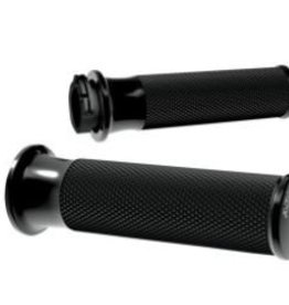Arlen Ness GRIPS SMOOTH FUSION THROTTLE BY CABLE BLACK