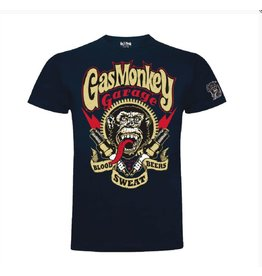 GAS MONKEY GMG T-SHIRT SPARKPLUGS NAVY