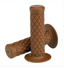 "Biltwell THRUSTER GRIPS, CHOCOLATE FOR 1"" H/B"