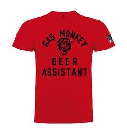 GAS MONKEY GMG T-SHIRT BEER MONKEY RED