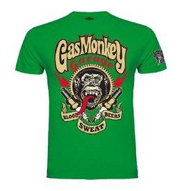 GAS MONKEY GMG T-SHIRT SPARKPLUGS GREEN