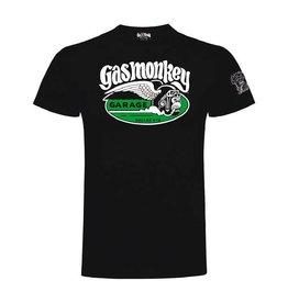 GAS MONKEY GMG T-SHIRT CIGAR MONKEY BLACK