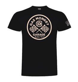 GAS MONKEY GMG T-SHIRT ROUND LOGO BLACK