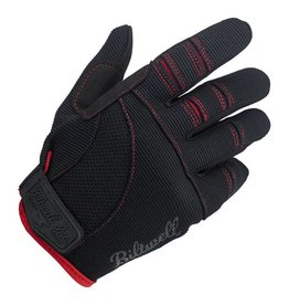 BILTWELL MOTO GLOVES BLACK/RED