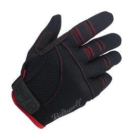 BILTWELL MOTO GLOVES BLACK/RED