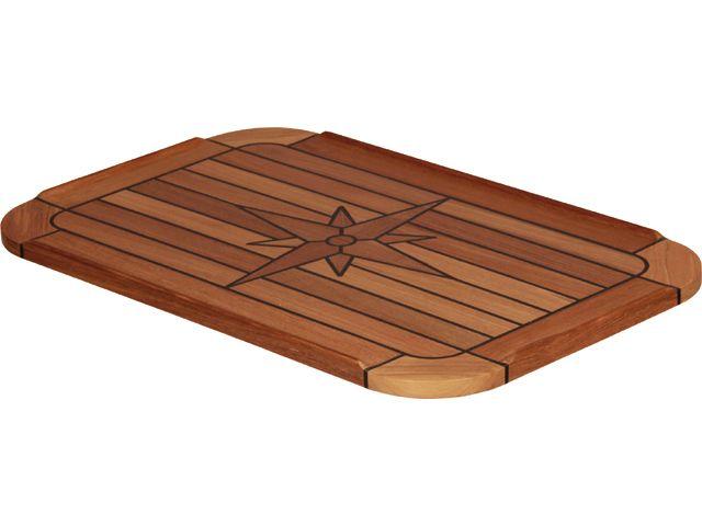 EUDE Teak-Tischplatte Classic 37x60cm