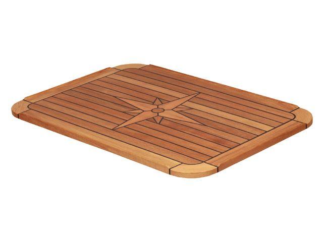 EUDE Teak-Tischplatte Classic 58x90cm