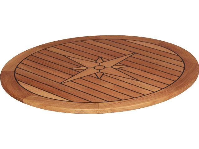 EUDE Teak-Tischplatte Circle Ø65cm