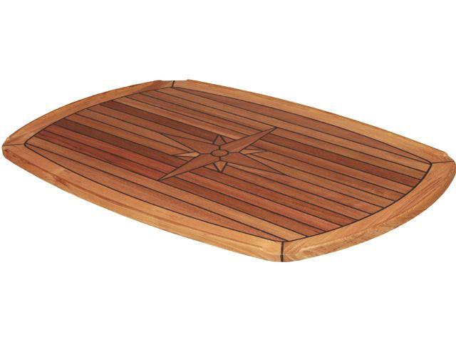 EUDE Teak-Tischplatte 61x94cm
