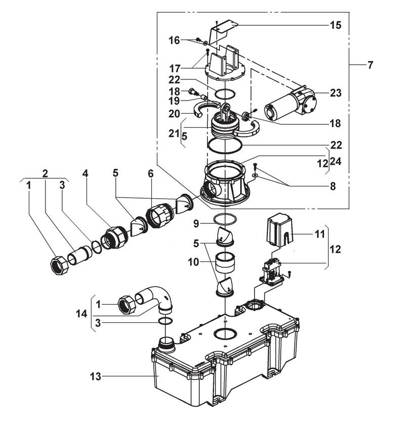 Sealand Sealand Vacuum Pumpe VG4 - Ersatzteile