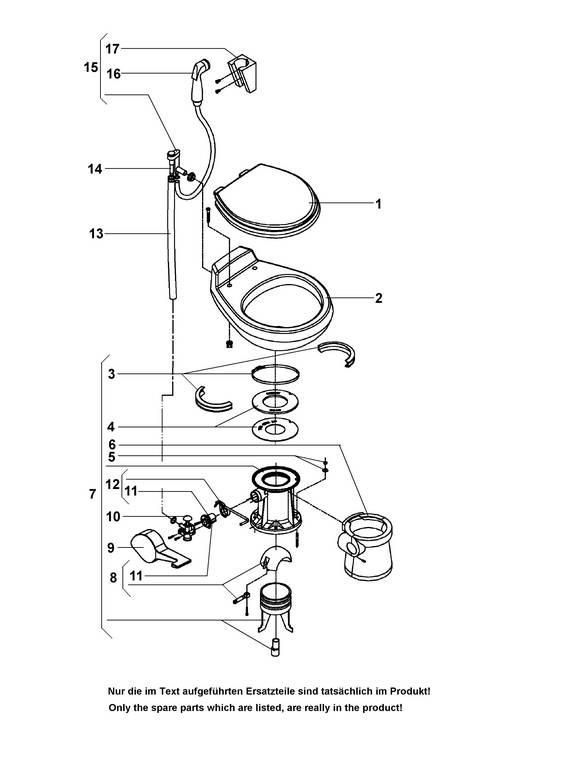 Sealand Sealand Vacuum WC 508- Ersatzteile