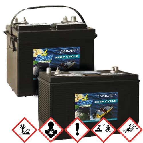 BatterieSupplies Marine Batterie Deep-Cycle 120Ah