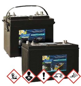 BatterieSupplies Marine Batterie Deep-Cycle 75Ah