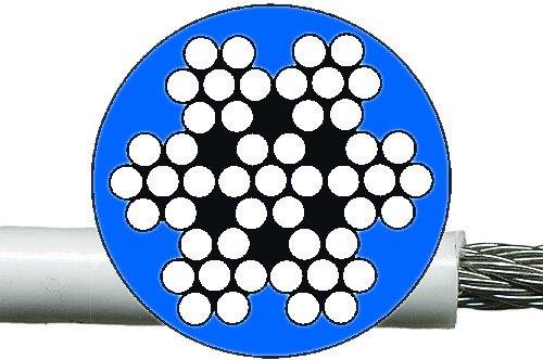 Relingsdrahtseil 7 x 7 (ummantelt)