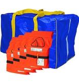 Lalizas SOS-Tasche (incl. vier Rettungswesten)