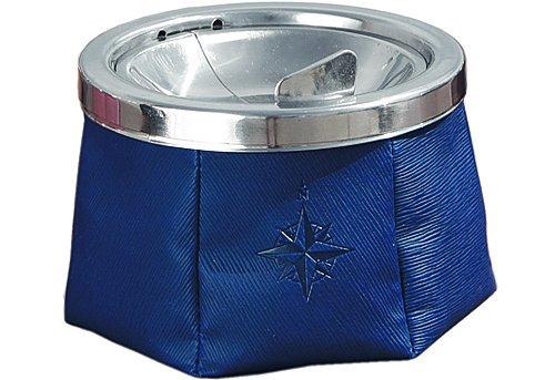 Marine Buisness Aschenbecher Leder blau