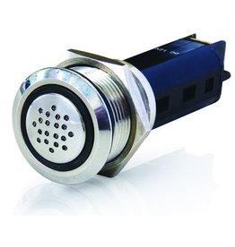 Hellamarine LED Warnleuchte mit Ton