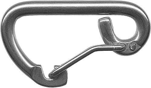 Nirokarabiner mit selbstsicherndem Bügel