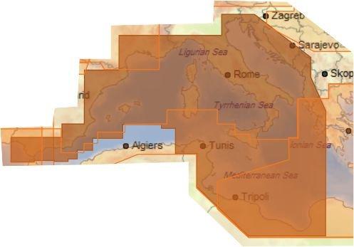 C-MAP C-MAP 4D Max Wide EM-D076.34 Südwest Europa