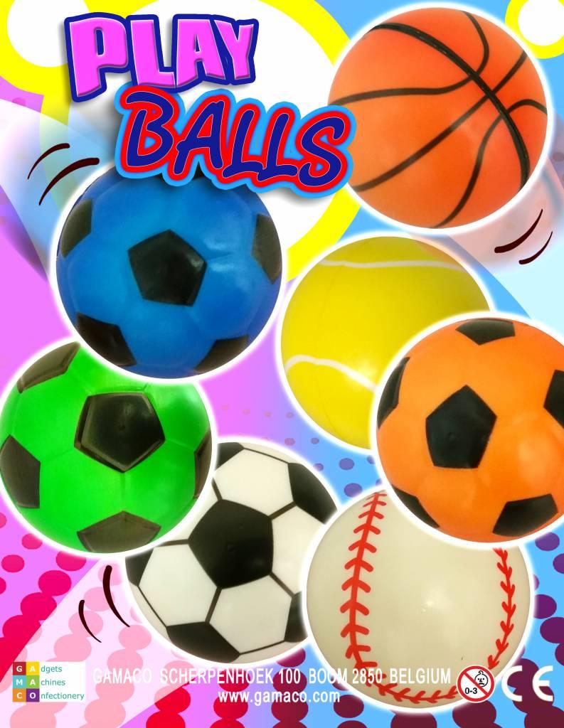 Sportbal 10cm per 6 stuks