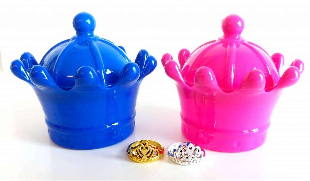 """Juwelendoosje """"Kroon"""" met ring per 12 stuks"""