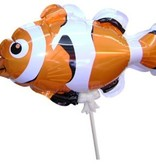 Zelfblazende dierenballon op stokje per 12 stuks