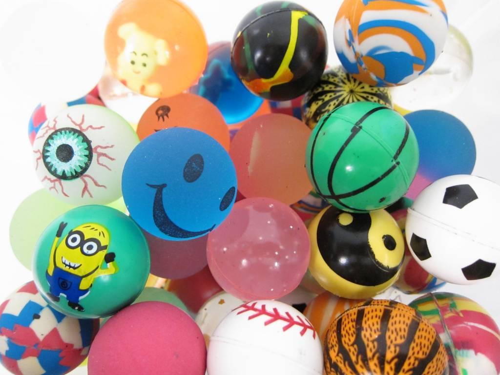 Balles rebondissantes 32mm par 24 pcs