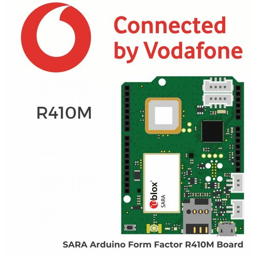 SARA Arduino Form Factor (AFF) R410M Connected by Vodafone including  PCB Antenna and a Vodafone SIM card