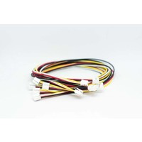 Universal 4 pin Buckled cable 20cm (5pcs.)