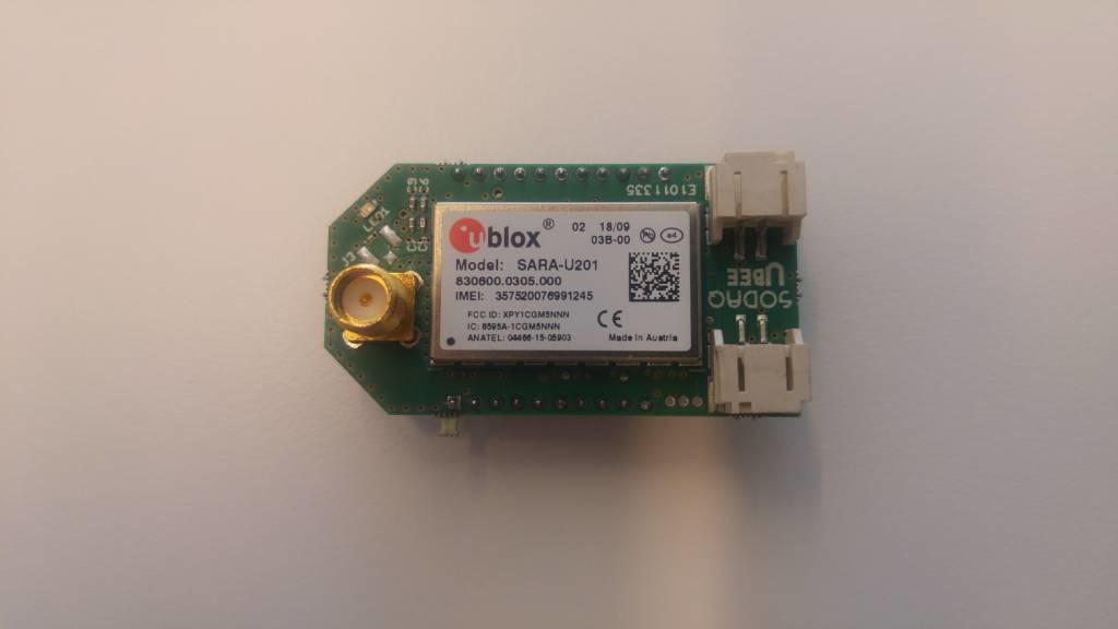 SODAQ SARA UBEE U201 including a SMA Stick antenna