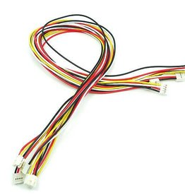 Universal 4 pin Buckled cable 50cm (5pcs.)