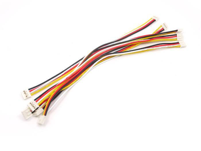 Universal 4 pin Unbuckled Cable 20cm (5pcs.)