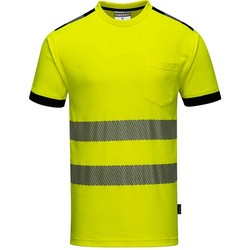 High-visibility t-shirt Vision geel