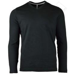 T-shirt met lange mouwen Kariban V-hals